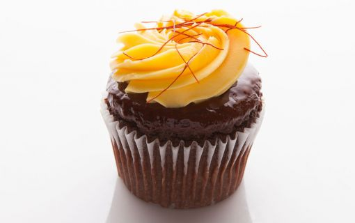'Deep Passion' - Chocolate cupcake with passionfruit frosting
