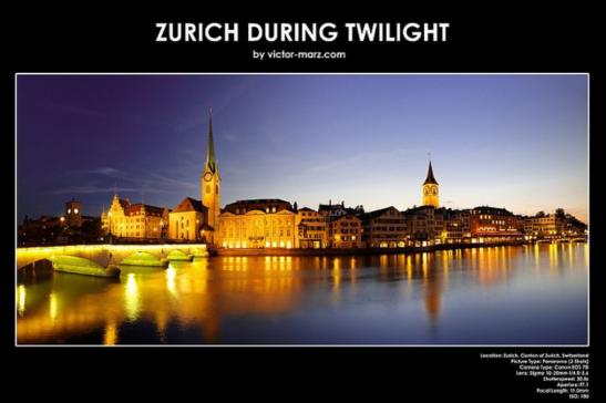 Zurich During Twilight - Victor März